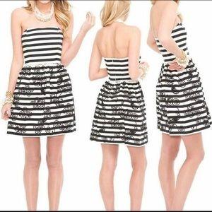 NWT Peyton Dress Black Swizzle Stripe Size 0
